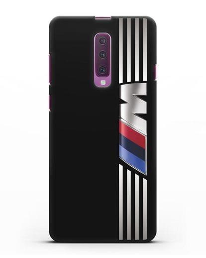 Чехол с символикой BMW M серия силикон черный для Samsung Galaxy A90 [SM-A908N]