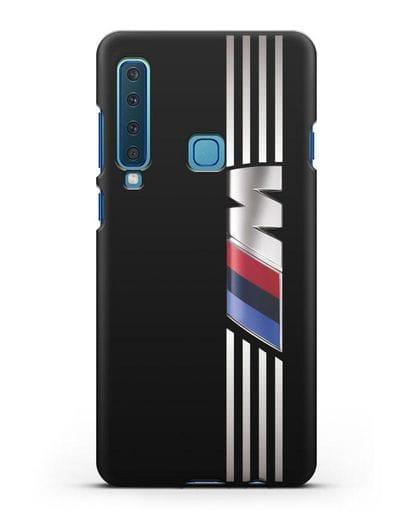 Чехол с символикой BMW M серия силикон черный для Samsung Galaxy A9 (2018) [SM-A920]