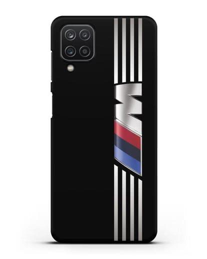 Чехол с символикой BMW M серия силикон черный для Samsung Galaxy A12 [SM-A125F]
