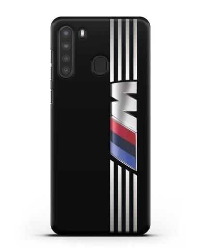 Чехол с символикой BMW M серия силикон черный для Samsung Galaxy A21 [SM-A215]
