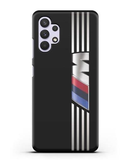 Чехол с символикой BMW M серия силикон черный для Samsung Galaxy A32 4G [SM-A325F]
