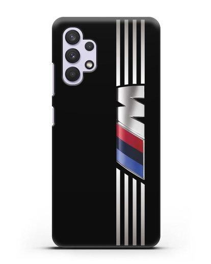 Чехол с символикой BMW M серия силикон черный для Samsung Galaxy A32 5G [SM-A326B]