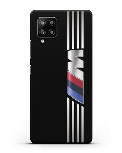 Чехол с символикой BMW M серия силикон черный для Samsung Galaxy A42 [SM-A426B]