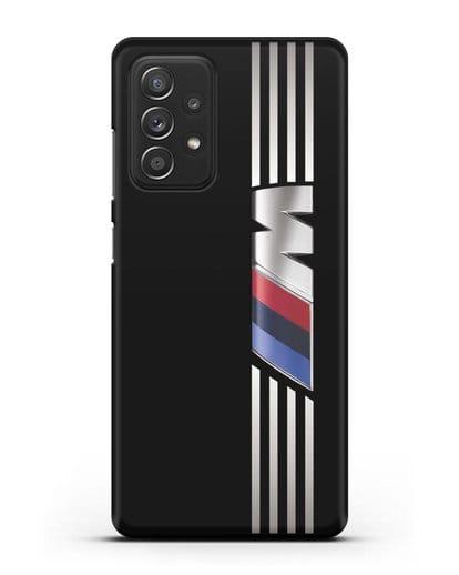 Чехол с символикой BMW M серия силикон черный для Samsung Galaxy A52 5G [SM-A5260]