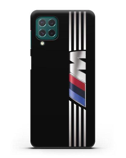 Чехол с символикой BMW M серия силикон черный для Samsung Galaxy M62 [SM-M625F]