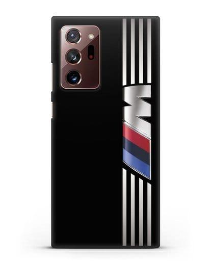 Чехол с символикой BMW M серия силикон черный для Samsung Galaxy Note 20 Ultra [SM-N985F]