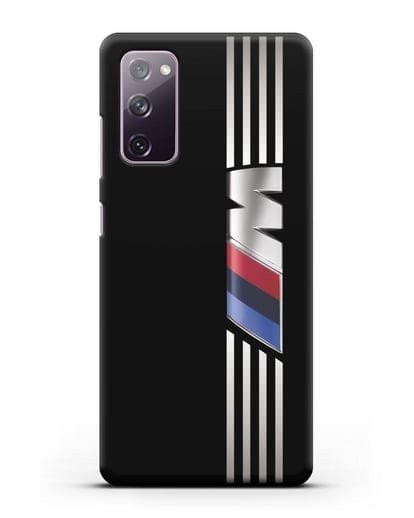 Чехол с символикой BMW M серия силикон черный для Samsung Galaxy S20 FE [SM-G780F]