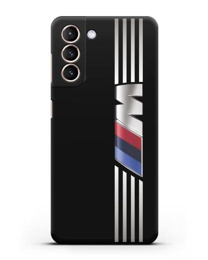 Чехол с символикой BMW M серия силикон черный для Samsung Galaxy S21 [SM-G991B]
