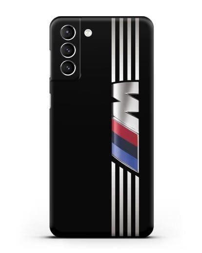 Чехол с символикой BMW M серия силикон черный для Samsung Galaxy S21 Plus [SM-G996B]