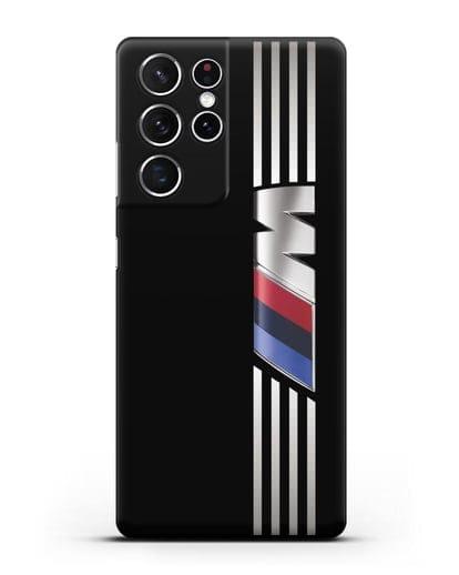 Чехол с символикой BMW M серия силикон черный для Samsung Galaxy S21 Ultra [SM-G998B]