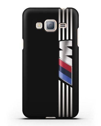 Чехол с символикой BMW M серия силикон черный для Samsung Galaxy J3 2016 [SM-J320F]