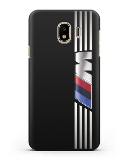Чехол с символикой BMW M серия силикон черный для Samsung Galaxy J4 2018 [SM-J400F]