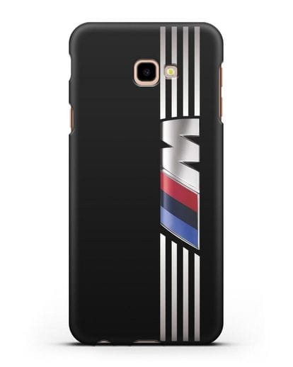 Чехол с символикой BMW M серия силикон черный для Samsung Galaxy J4 Plus [SM-J415]