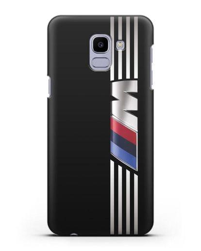Чехол с символикой BMW M серия силикон черный для Samsung Galaxy J6 2018 [SM-J600F]