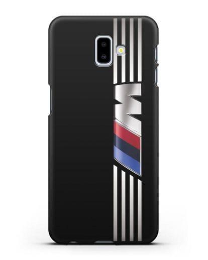 Чехол с символикой BMW M серия силикон черный для Samsung Galaxy J6 Plus [SM-J610F]