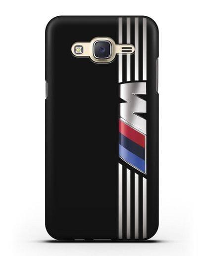 Чехол с символикой BMW M серия силикон черный для Samsung Galaxy J7 2015 [SM-J700H]