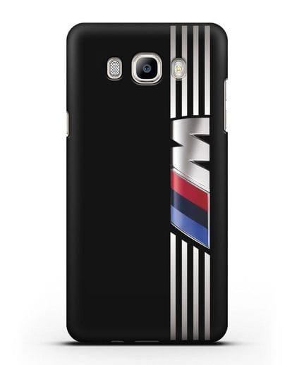 Чехол с символикой BMW M серия силикон черный для Samsung Galaxy J7 2016 [SM-J710F]