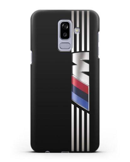 Чехол с символикой BMW M серия силикон черный для Samsung Galaxy J8 2018 [SM-J810F]