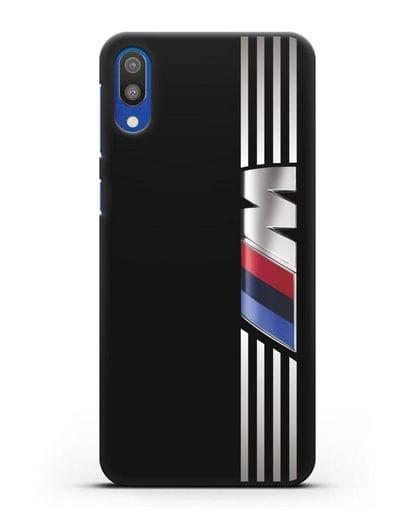 Чехол с символикой BMW M серия силикон черный для Samsung Galaxy M10 [SM-M105F]