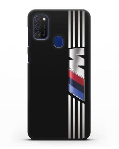 Чехол с символикой BMW M серия силикон черный для Samsung Galaxy M21 [SM-M215F]
