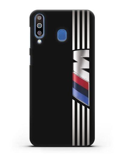 Чехол с символикой BMW M серия силикон черный для Samsung Galaxy M30 [SM-M305F]