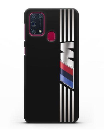 Чехол с символикой BMW M серия силикон черный для Samsung Galaxy M31 [SM-M315F]