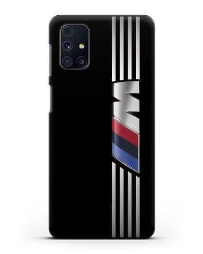 Чехол с символикой BMW M серия силикон черный для Samsung Galaxy M51 [SM-M515F]