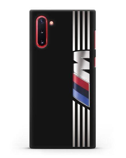 Чехол с символикой BMW M серия силикон черный для Samsung Galaxy Note 10 [N970F]