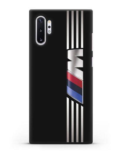 Чехол с символикой BMW M серия силикон черный для Samsung Galaxy Note 10 Plus [N975F]