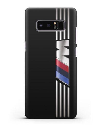 Чехол с символикой BMW M серия силикон черный для Samsung Galaxy Note 8 [N950F]