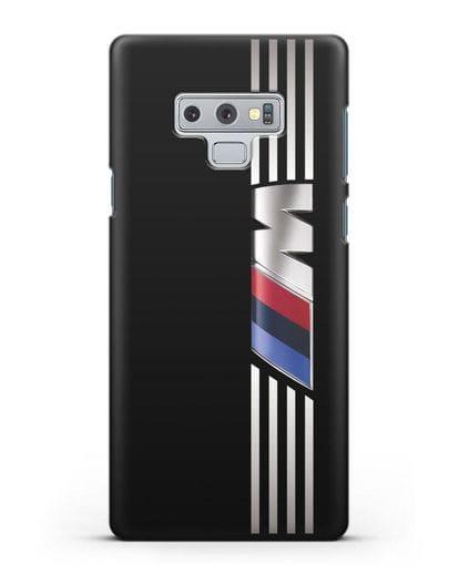 Чехол с символикой BMW M серия силикон черный для Samsung Galaxy Note 9 [N960F]