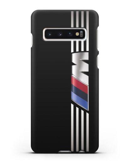 Чехол с символикой BMW M серия силикон черный для Samsung Galaxy S10 [SM-G973F]