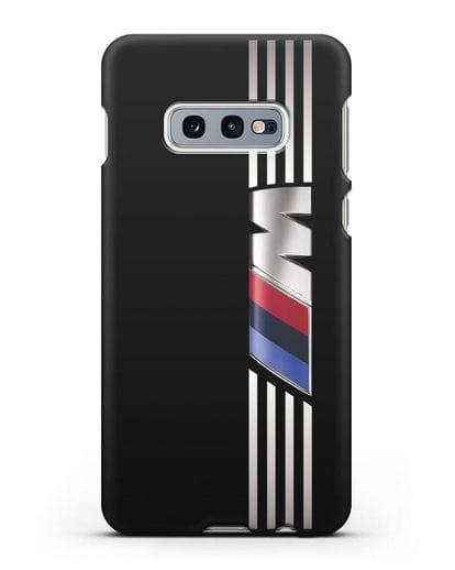 Чехол с символикой BMW M серия силикон черный для Samsung Galaxy S10e [SM-G970F]