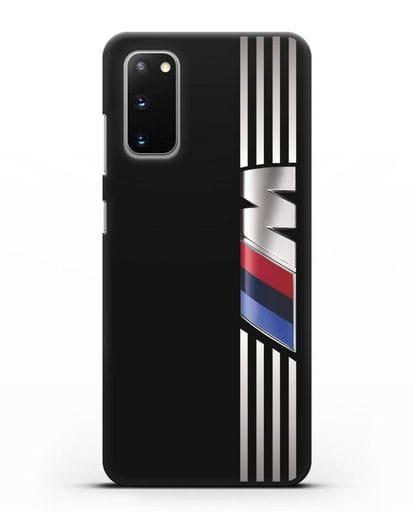 Чехол с символикой BMW M серия силикон черный для Samsung Galaxy S20 [SM-G980F]