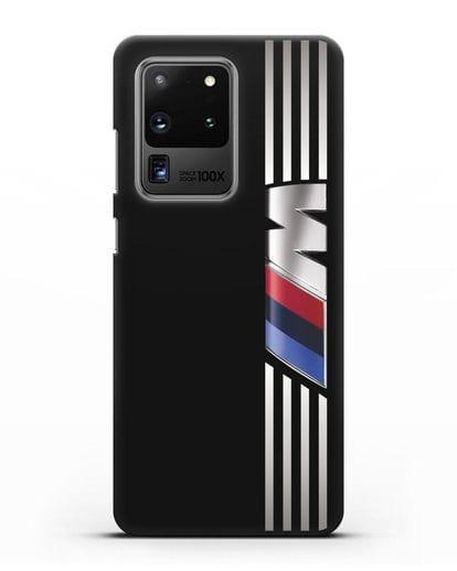 Чехол с символикой BMW M серия силикон черный для Samsung Galaxy S20 Ultra [SM-G988B]