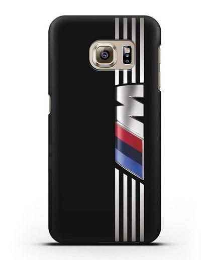 Чехол с символикой BMW M серия силикон черный для Samsung Galaxy S6 Edge [SM-G925F]