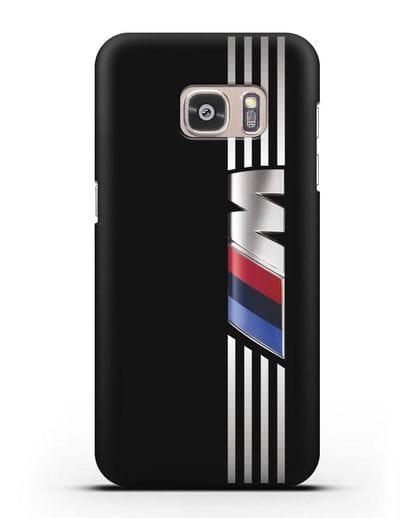 Чехол с символикой BMW M серия силикон черный для Samsung Galaxy S7 Edge [SM-G935F]