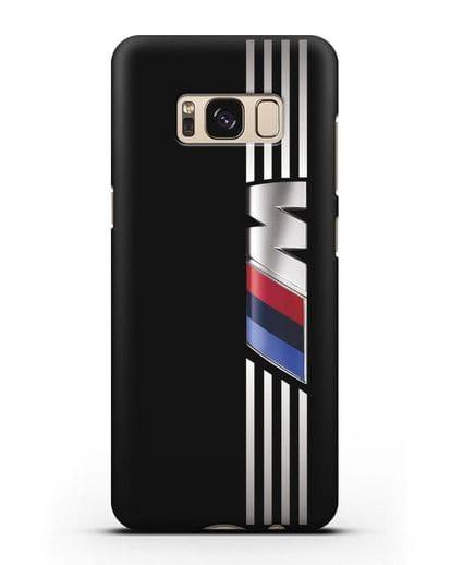 Чехол с символикой BMW M серия силикон черный для Samsung Galaxy S8 [SM-950F]