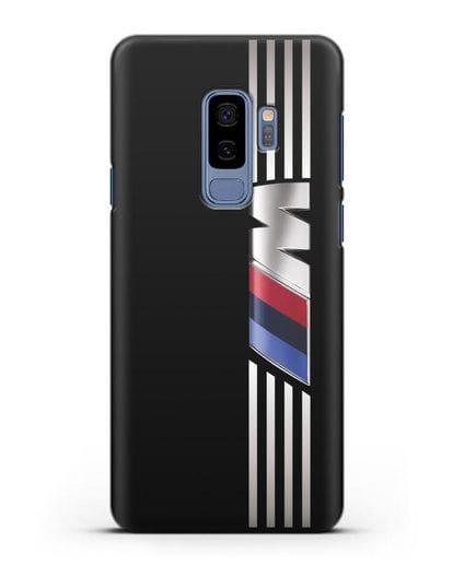 Чехол с символикой BMW M серия силикон черный для Samsung Galaxy S9 Plus [SM-G965F]