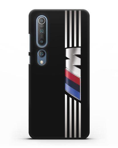Чехол с символикой BMW M серия силикон черный для Xiaomi Mi 10 Pro