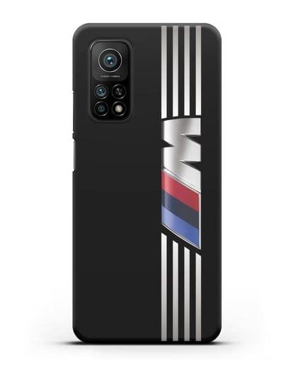 Чехол с символикой BMW M серия силикон черный для Xiaomi Mi 10T