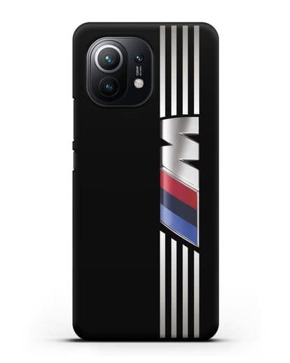 Чехол с символикой BMW M серия силикон черный для Xiaomi Mi 11