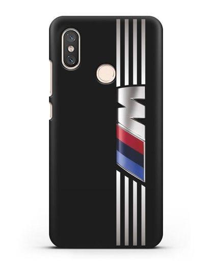 Чехол с символикой BMW M серия силикон черный для Xiaomi Mi 8