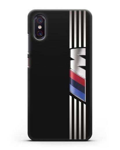 Чехол с символикой BMW M серия силикон черный для Xiaomi Mi 8 Pro