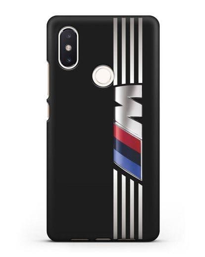 Чехол с символикой BMW M серия силикон черный для Xiaomi Mi 8 SE