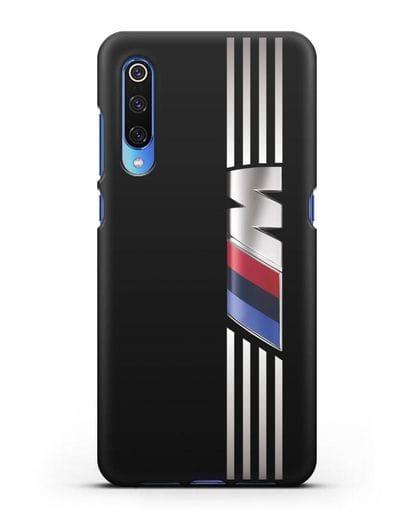 Чехол с символикой BMW M серия силикон черный для Xiaomi Mi 9