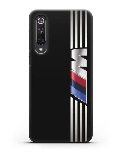 Чехол с символикой BMW M серия силикон черный для Xiaomi Mi 9 SE