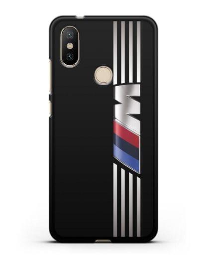 Чехол с символикой BMW M серия силикон черный для Xiaomi Mi A2