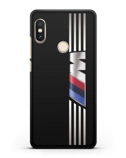 Чехол с символикой BMW M серия силикон черный для Xiaomi Mi A2 Lite