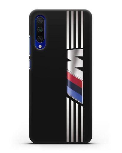 Чехол с символикой BMW M серия силикон черный для Xiaomi Mi A3